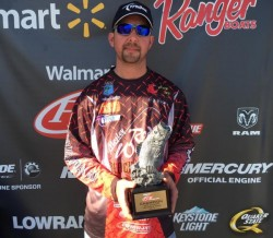 "Brandon Mosley Okie BFL Win at Arkansas River 2015 -- Mosley RodWorks 6'9"" Spinner Bait"